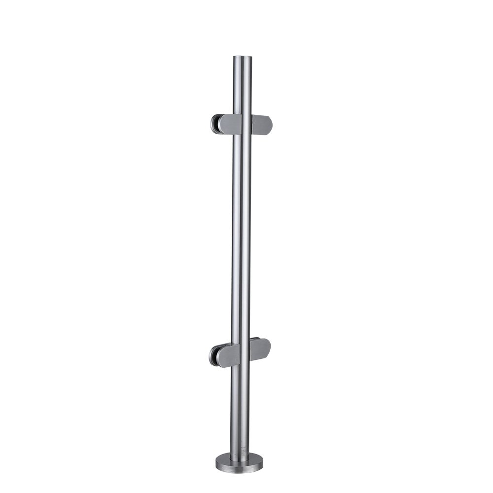 Britoniture Stainless Steel Balustrade Posts 900mm High Corner Post with glass clamps and rubbers Decking Landing Staircase BOCHEN