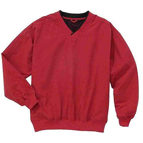 (Rivers' End Mens Lined Microfiber Windshirt Athletic Jacket Red XXL)