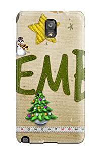 New Style 5801546K46498915 Protective Tpu Case With Fashion Design For Galaxy Note 3 (christmas)