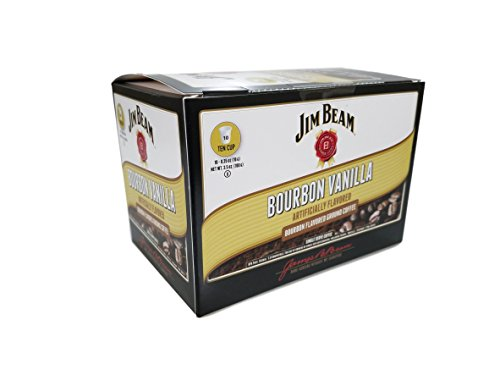 Jim Beam Bourbon Flavored Single Serve Coffee 10 Count Boxes (Bourbon Vanilla, 1 Box)