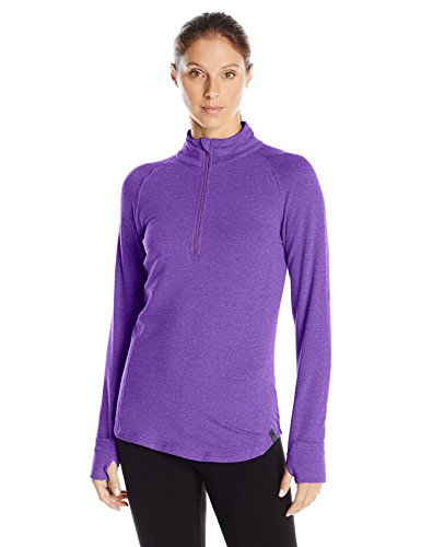 tasc performance women's north star ii fleece 1/2-zip top, plumberry, x-large