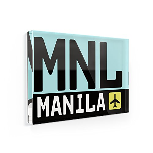 Fridge Magnet Airport code MNL / Manila country: Philippines -