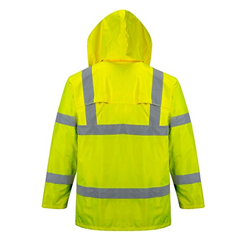 Portwest Waterproof Rain Jacket, Lightweight, Yellow, Medium by Portwest (Image #3)