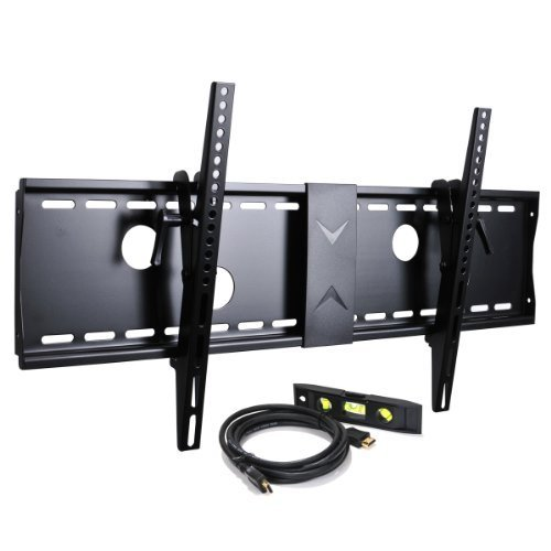 VideoSecu Tilt Flat Screen TV Wall Mount Bracket for 37″ 40″ 42″ 46″ 47″ 50″ 52″ 55″ 58″ 60″ 62″ 63″ 65″ 70″ LCD LED Max VESA 700x400mm with 7 ft HDMI cable and Bubble Level MN4