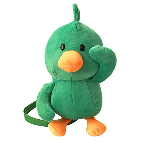 (DDKK backapck Kids Plush Backpack Toddler Snacks Bags Kindergarten Bag for Little Children(14X10X23cm)- Yellow Duck)