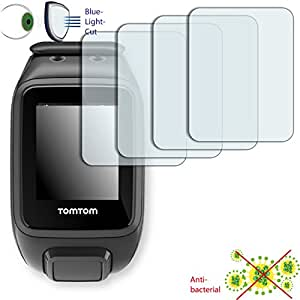 4x DISAGU ClearScreen–Protector de pantalla para TomTom Runner 2Cardio antibacteriano, filtro de corte Bluelight–Protector de pantalla