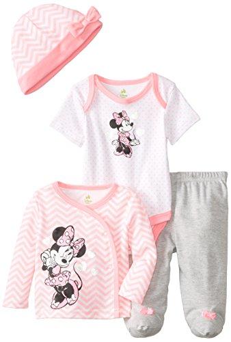 Disney Baby Baby-Girls Newborn Minnie Mouse 4 Piece