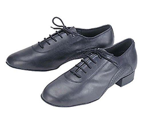 Stephanie Mens Black Leather Ballroom Dance Shoes 94001-11 size 7 A7s3p7