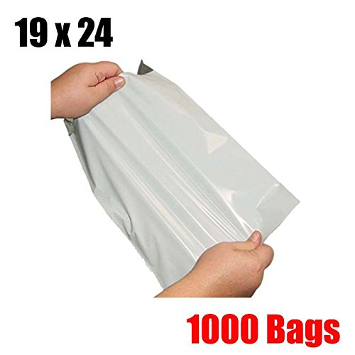 iMBAPrice 1000 19x24 WHITE POLY MAILERS ENVELOPES BAGS 19 x 24 (Total 1000 Bags) by iMBAPrice