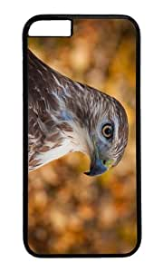 MOKSHOP Adorable hawk head Hard Case Protective Shell Cell Phone Cover For Apple Iphone 6 (4.7 Inch) - PC Black