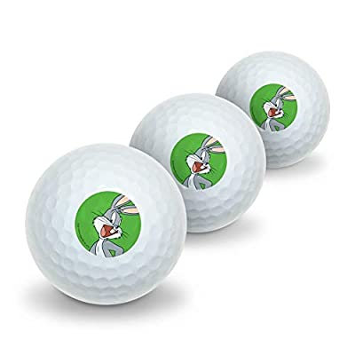 GRAPHICS & MORE Looney Tunes Bugs Bunny Novelty Golf Balls 3 Pack