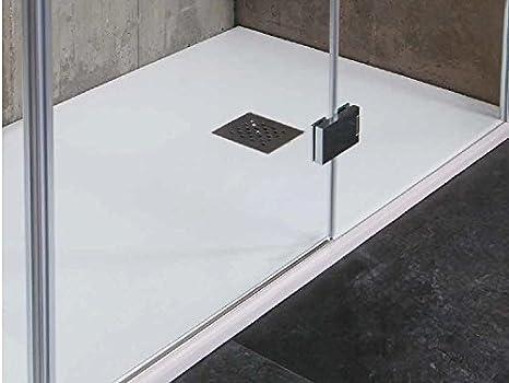 Piatto doccia effetto cemento realizzato in marmo resina