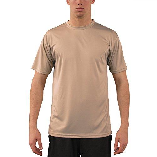(Vapor Apparel Men's UPF 50+ UV Sun Protection Performance Short Sleeve T-Shirt X-Large Tan )