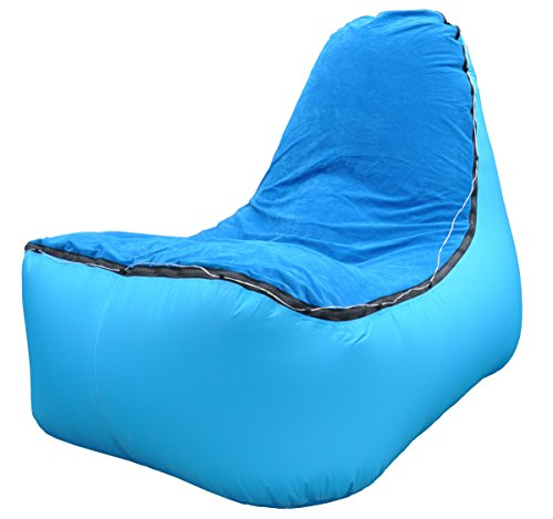 Quwei LED Inflatable Chair Inflatable Lounger Inflatable Sofa Air Sofa Hangout Lazy Bag for Ootdoor/Indoor
