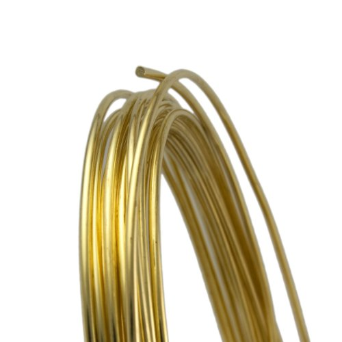 (20 Gauge Round Half Hard Yellow Brass Wire - 5FT)
