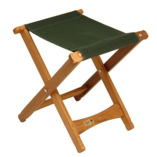 (BYER OF MAINE, Pangean Stool, Wood Folding Stool, Easy to Fold and Carry, Perfect for Camping, Canvas Camp Stool, Matches All Furniture in The Pangean Line, Green, Single)
