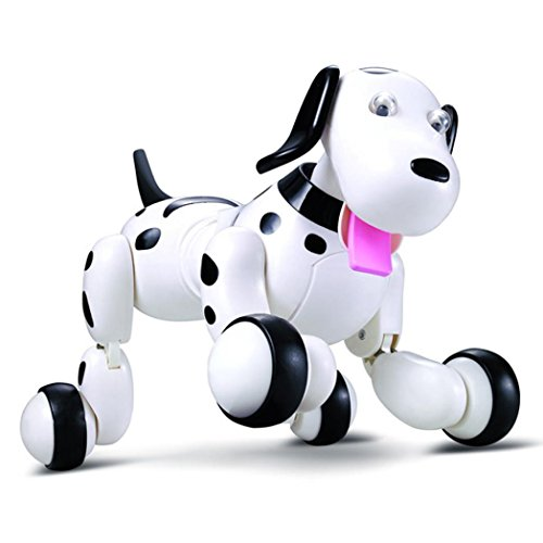 Charming Likero RC strolling 2.4G Distant Management Digital Pets Good Canine Interactive Robotic Canine (Black)