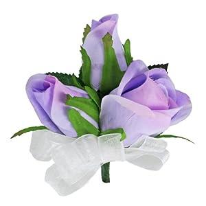 Lavender Silk Rose Corsage - Wedding Corsage Prom 104