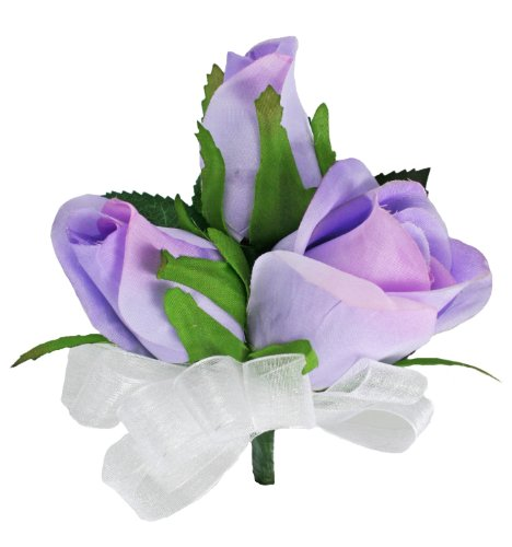 Lavender Silk Rose Corsage - Wedding Corsage Prom ()