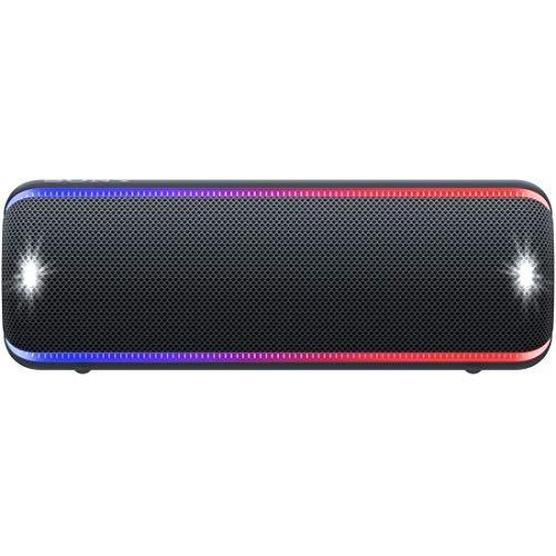 소니 SONY wireless 포터블 스피커 SRS-XB32 : 방수 / 방진 / 방수 / Bluetooth / 중저음 모델 라이팅 기능 탑재 2019년 모델 블랙