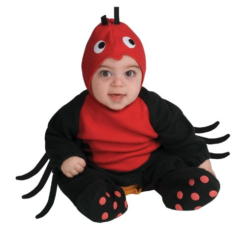 Girls Little Miss Spider Costumes (Rubie's Costume EZ-On Romper Costume, Lil' Spider, 1 to 6 Months)