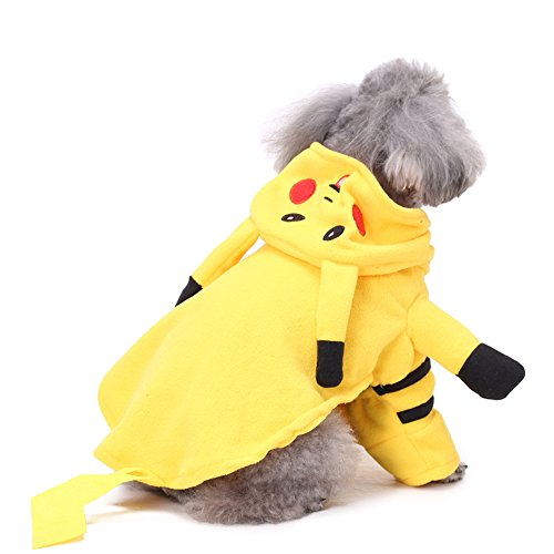 Pikachu Dog Costumes (S-Lifeeling Pet Pikachu Costume Dog Costumes Pikachu Player Ourfits for Halloween Christmas Cosplay Party Funny Cat Clothes)