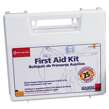 Bulk First Aid Kit for 25 People, 106 Pieces, OSHA Compliant, Plastic Case by FIRST AID (Catalog Category: Office Maintenance, Janitorial & Lunchroom / Well Being, Safety & ()