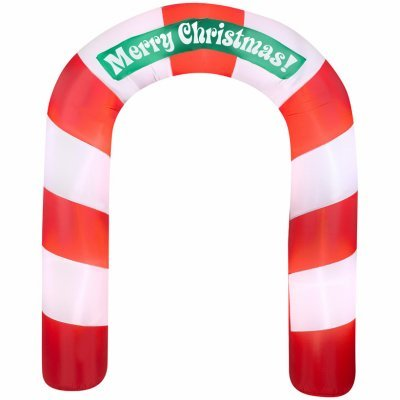 Gemmy 36681 Airblown Inflatable Candy Cane Archway, -