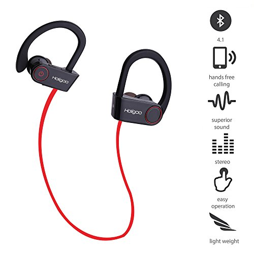 holigoo headphones bluetooth 4 1 sport headset sweat proof in ear earbuds aptx pure sound 8. Black Bedroom Furniture Sets. Home Design Ideas
