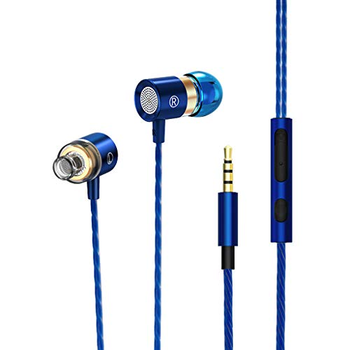 Headset,CUCAMM Headset Earbuds 3.5mm With Microphone Bass Stereo In-Ear Earphones Headphones (Best Sounding Audio Interface 2019)