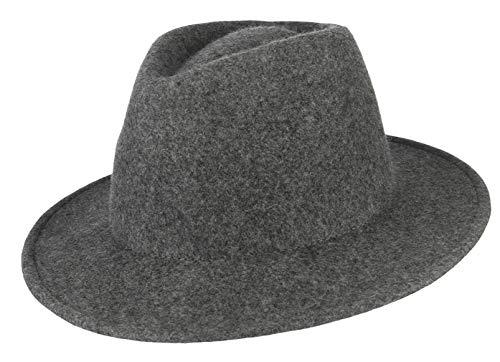 Binse Women Wool Fedora Panama Hat Retro Wide Brim Floppy Panama Hat Jazz Hat