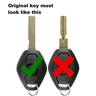 KeylessOption Keyless Entry Remote Control Car Key Fob Smooth Style Replacement for LX8 FZV (Pack of 2): Automotive