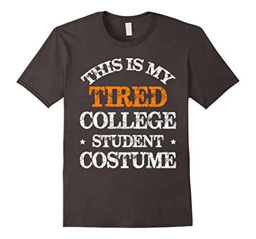 Tired Student Costume (Mens This Is My Tired College Student Costume T-shirt 2XL Asphalt)