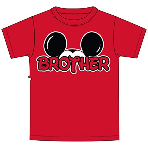 Disney Mickey Mouse Red Brother T-Shirt, Small -