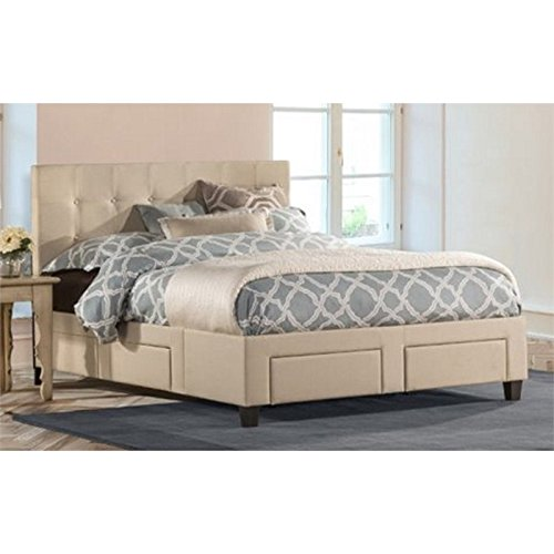 Atlin Designs Upholstered King Storage Panel Bed with 6 Drawer