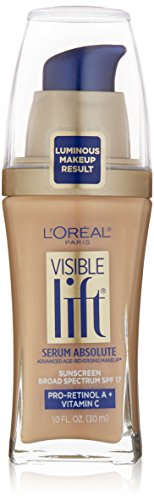L'Oréal Paris Visible Lift Serum Absolute Foundation, Sand Beige, 1 Count