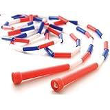 US Games 9' Segmented Skip Rope, Red/White/Blue - 6 Pack