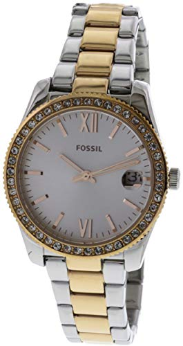 10 Atm Date Watch - Fossil Women's 'Scarlette' Quartz Stainless Steel Casual Watch, Color:Rose Gold-Toned (Model: ES4372)