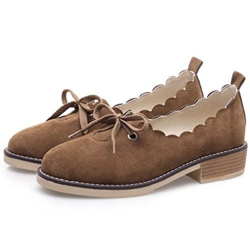 Melady Flat Shoes Brogue Casual Women Brown rBwxrU4
