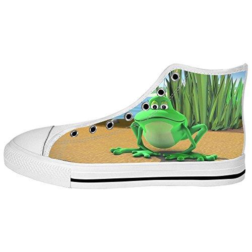 Women's Custom Ginnastica Shoes Delle Canvas Tetto Da Alto Lacci Scarpe I Rana Divertente vvqaOwrE