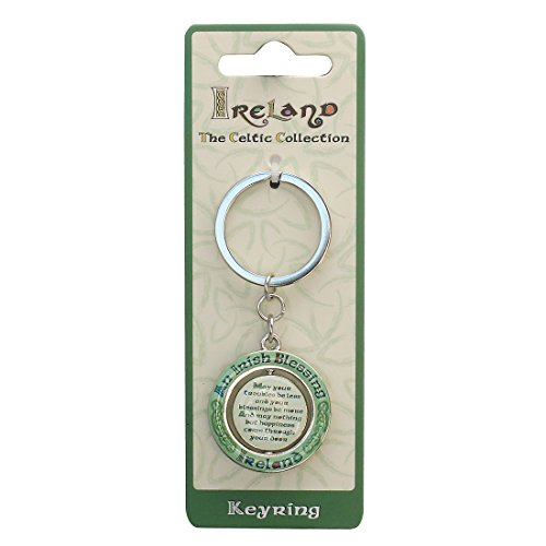 Celtic Collection Spinner Keychain With Irish Blessing