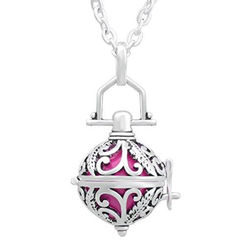 Eudora Harmony Bola Elegant Iris Pendant Necklace 16mm Angel Caller Chime & 30'' Deep (Gifts Harmony Ball Pot Bellys)
