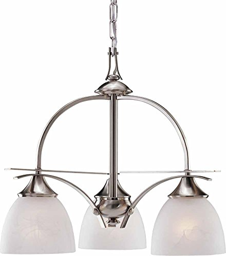 Majestic Nickel Pendant - AF Lighting 617575 21-3/4-Inch W by 18-1/2-Inch H Durango Lighting Collection Pendant, Brushed Nickel