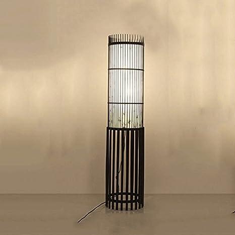 WXH Lámpara de pie - Moderno IKEA Creative Straw Cane Willow ...