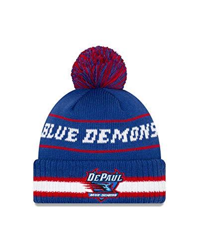 f16d1636405 New Era DePaul Blue Demons College Vintage Select Knit Pom Beanie - Royal