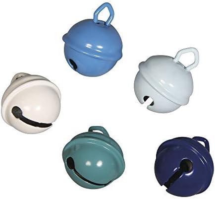 Pack de 5 cascabeles para manualidades hechos de metal con un tamaño de 19 mm de diámetro; cada casc