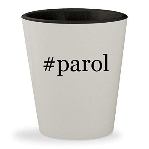 #parol - Hashtag White Outer & Black Inner Ceramic 1.5oz Shot Glass
