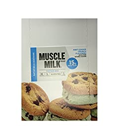 Muscle Milk Blue ,Mint Cookie Crunch Flavored ,1.72 oz , 12 pieces , Pack of 12