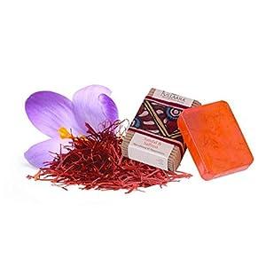 Saffron Sandal Soap Bar (Large 100gms – 3.5 Oz) Made with Ayurveda (Beautiful Glowing Skin Brightening Lightening Whitening) Ayurvedic Organic Artisanal Natural Handmade Aromatherapy Soap by Jullaaha 77