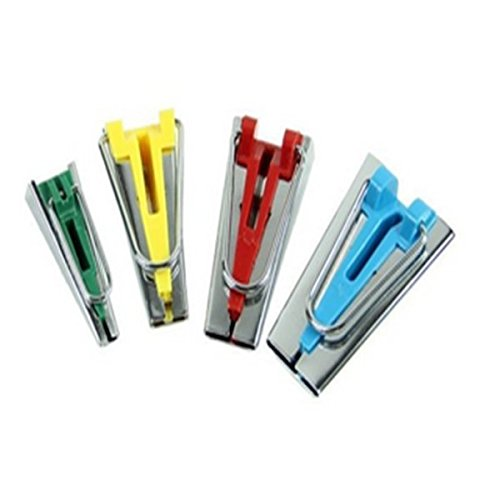 Lote de 4 herramientas para bies//bandas de tela de tama/ños diferentes para anchuras de 6/mm 12/mm 18/mm 25/mm Homiki